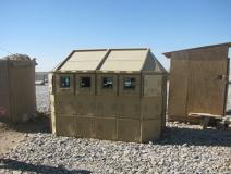Portable Mobile Ballistic Guard Security Cabin , Bullet Proof Guard Booth